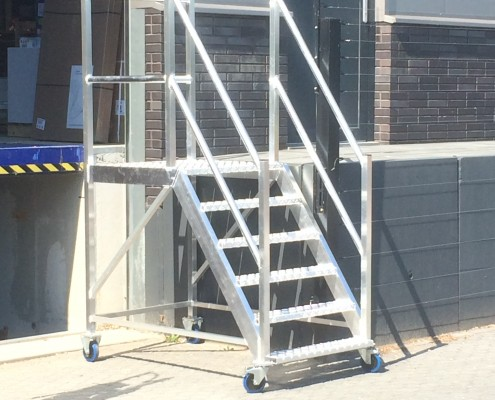 Aluminium trap verrijdbaar Den Bosch