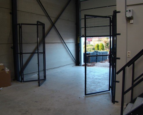 Vouwpoort nieuwbouw bedrijfspand Rosmalen