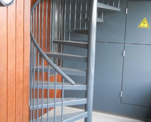 Stalen spiltrap appartementencomplex Den Bosch