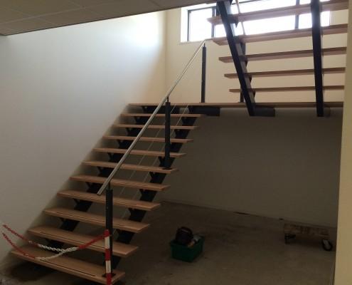 Bordestrap nieuwbouw kantoorpand Rosmalen