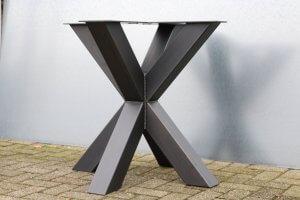 stalen tafelonderstel dubbelkruis compact