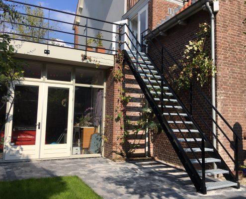 trap dakterras en balustrade binnenstad Den bosch