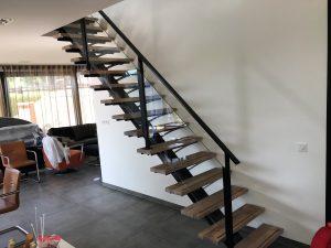 Open stalen trap woonhuis Rosmalen