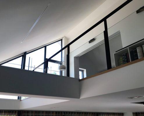 Balustrade glas met staal