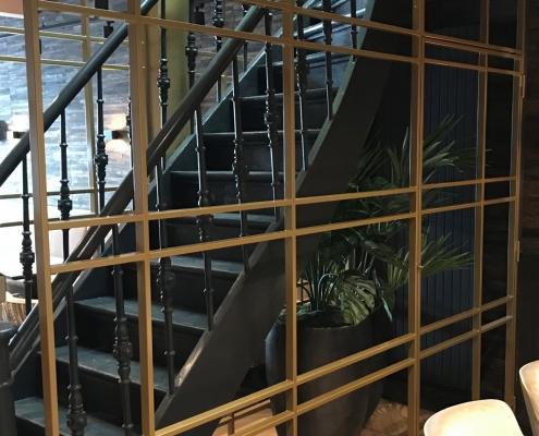 afscheidingsrek staal restaurant Disch Den Bosch