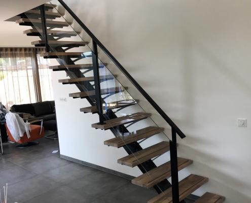 rechte steektrap met hout en glas woonhuis Rosmalen