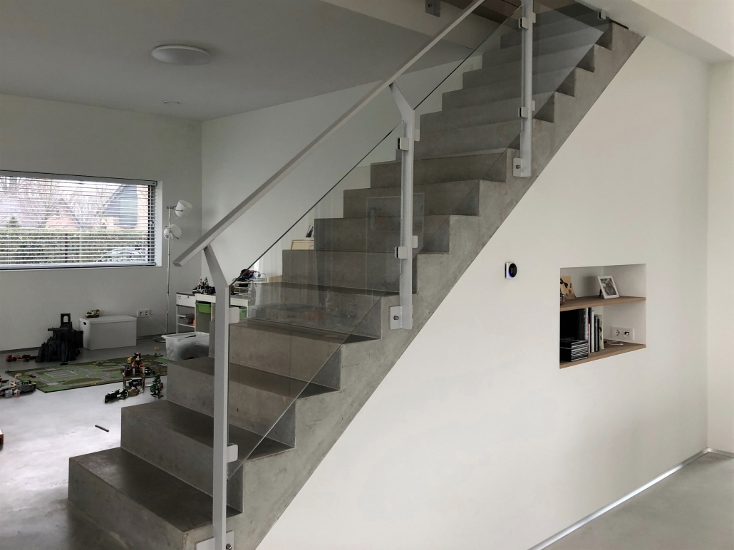balustrade trap staal met glas