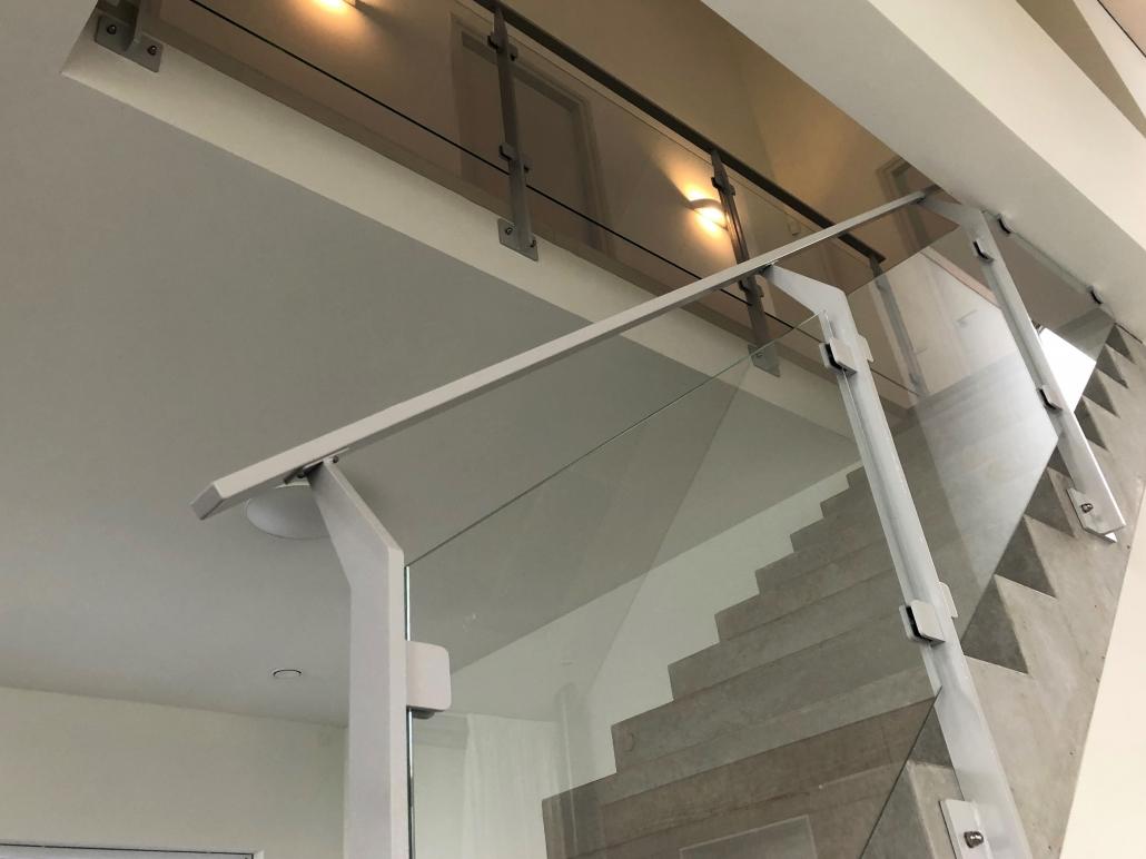 balustrade trap woonhuis staal met glas