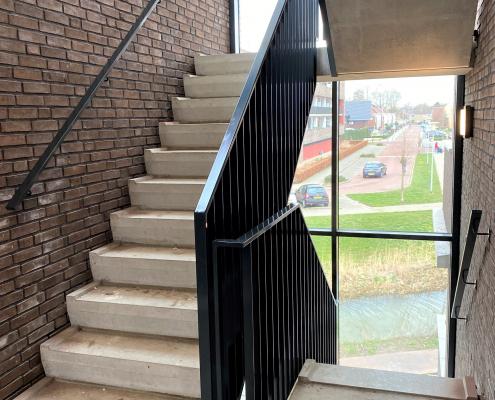 stalen balustrades trappenhuis nieuwbouw